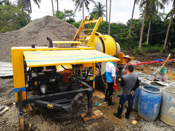JB40-10-82R diesel concrete mixer pump Philippines