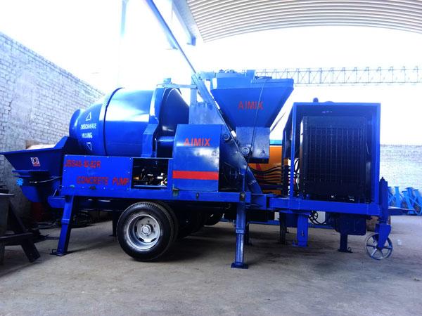 JBS40-10-82R diesel concrete mixer pump