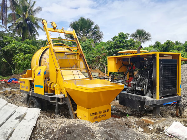 JBS40-10-82R diesel concrete pump mixer Philippines