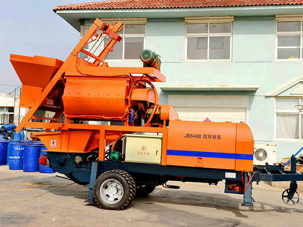 JBS40-JS750 compulsory concrete mixer with pump