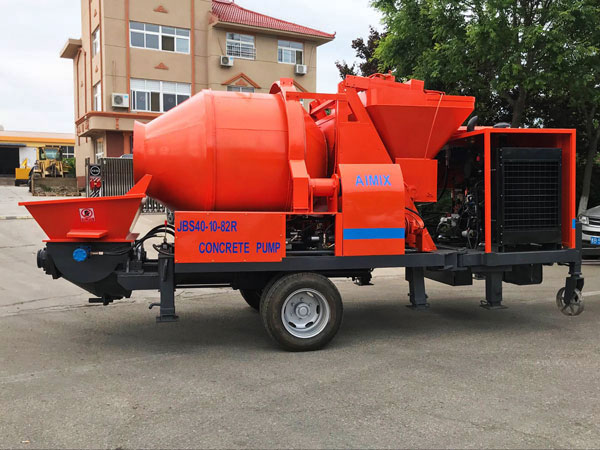 JBS40R-JZC350 concrete mixer pump with diesel engine