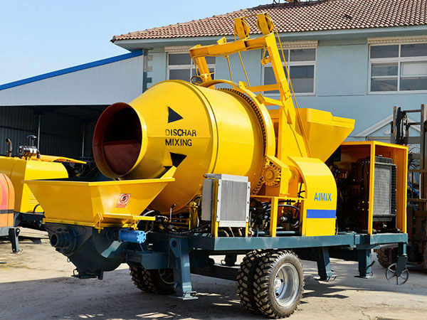 JBS40R-JZC350 diesel concrete mixer with pump