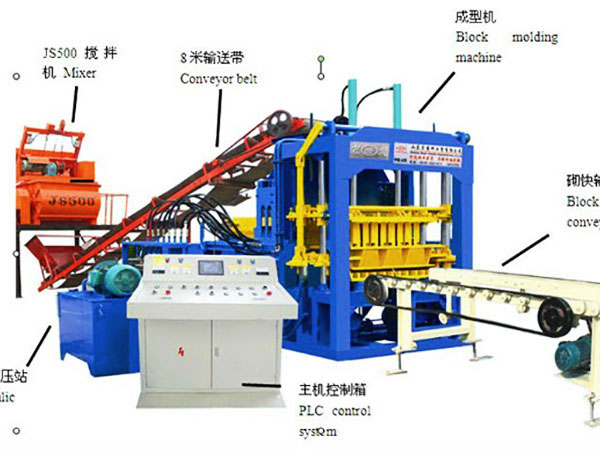 QT6-15 cement brick machine