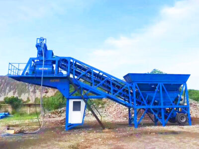 YHZS35 mobile concrete batching plant Philippines