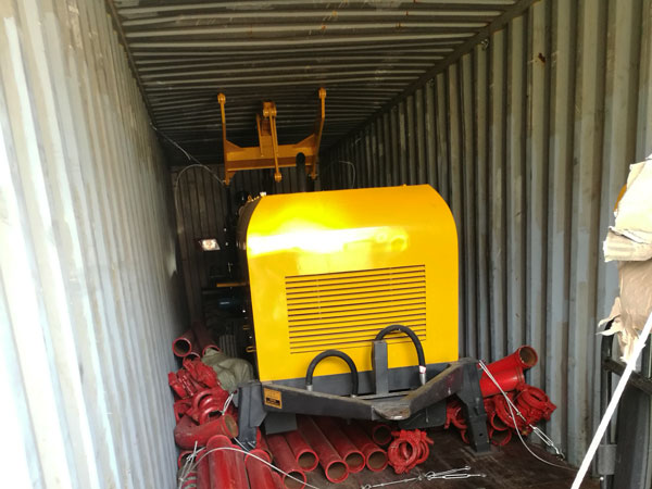 wheel loader and diesel concrete pump shipment