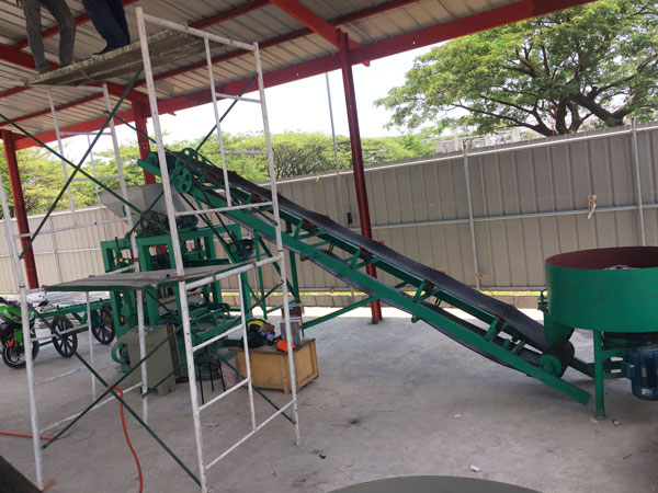 Bangladesh solid brick machine installation