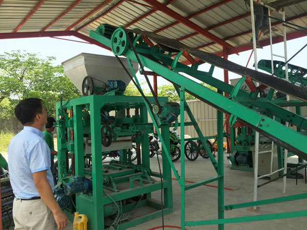 Installation of Bangladesh solid block machine