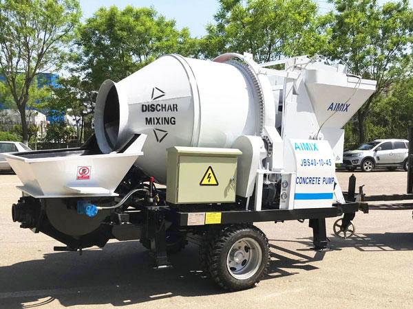 ABJZ40D electric concrete pump mixer