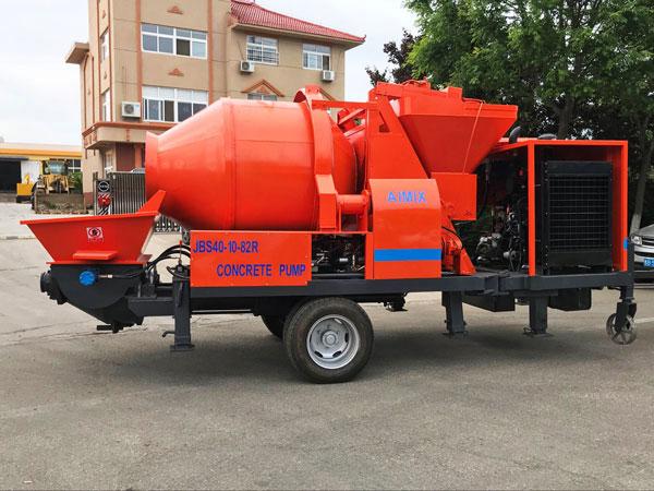 JS40-10-82R diesel concrete pump mixer