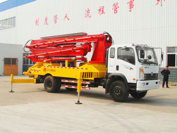 types of concrete boom pump truck