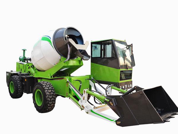 1.8 cub self loading mobile concrete mixer