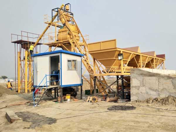 AJ-35 concrete batch plant Bangladesh