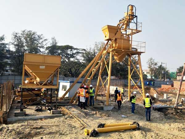 HZS35 concrete batching plant Bangladesh