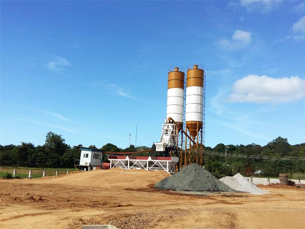 HZS35 concrete batching plant sale