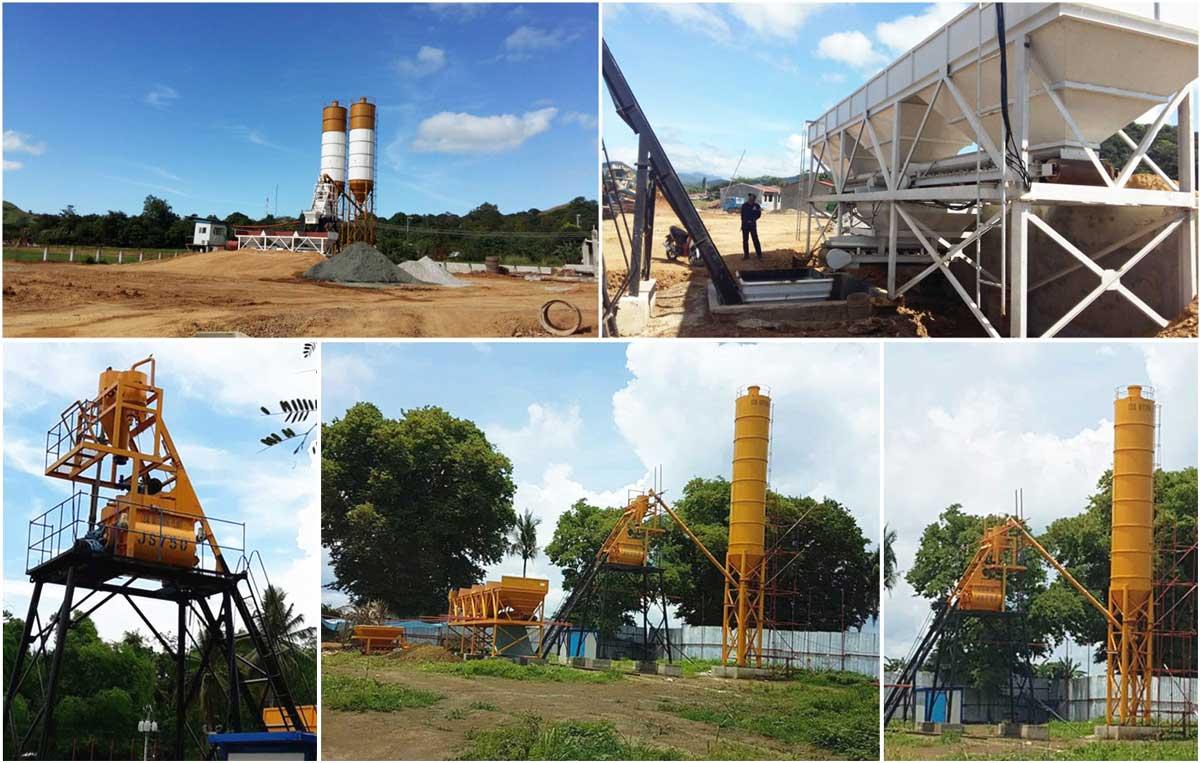 HZS35 concrete plant in Manila