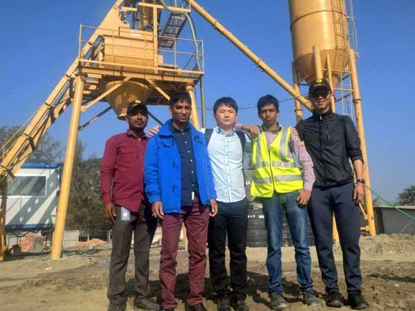 AJ-35 stationary batching plant Bangladesh
