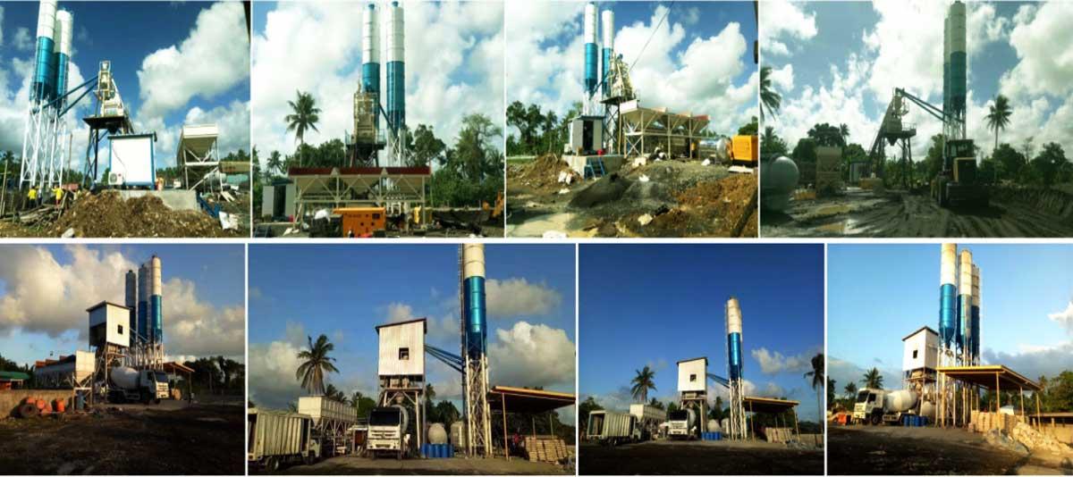 HZS50 concrete plant in Sorsogon
