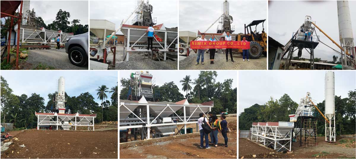 HZS50 batching plant in Davao