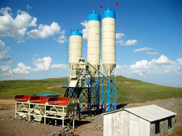 HZS50 concrete batch mix plant