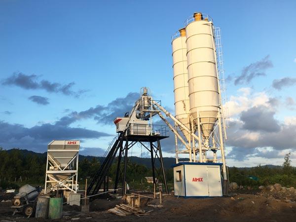 HZS50 concrete batching plant Philippines