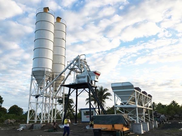 HZS50 concrete batching plant for sale philippines