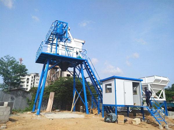 HZS50 concrete batching plant