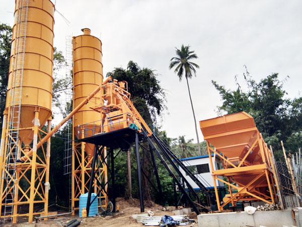 AJ-50 concrete plant in Sri Lanka
