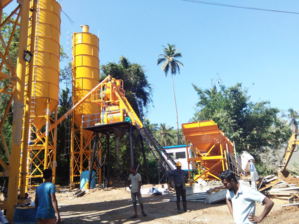 HZS50 stationary batching plant Sri Lanka
