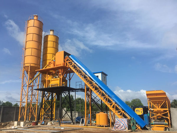 HZS60 concrete batch plant