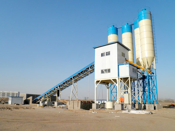 HZS90 batch mix plant