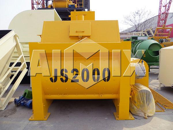 JS2000 twinshaft mixer