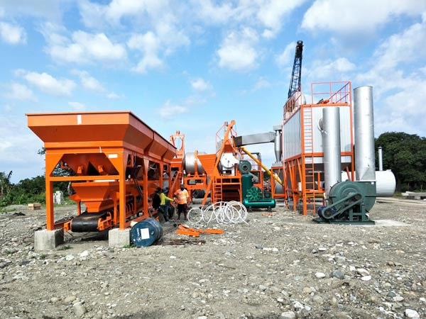 QLB60 mobile asphalt mixing plant Indonesia