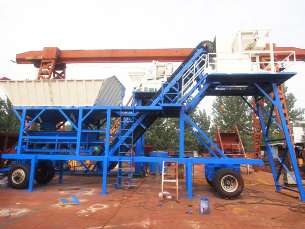 AJY-25 mobile concrete batch mix plant