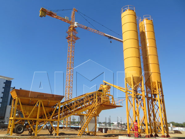 YHZS35 concrete mobile batching plant