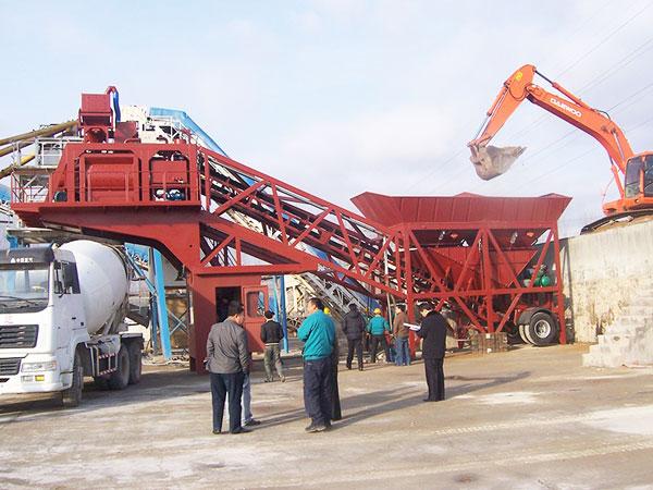 YHZS35 mobile batch plant concrete