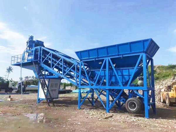 YHZS35 mobile batching plant Philippines