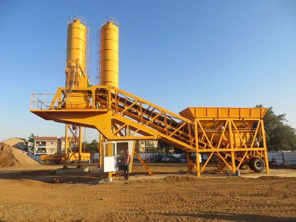 AJY-35 mobile concrete batching plant