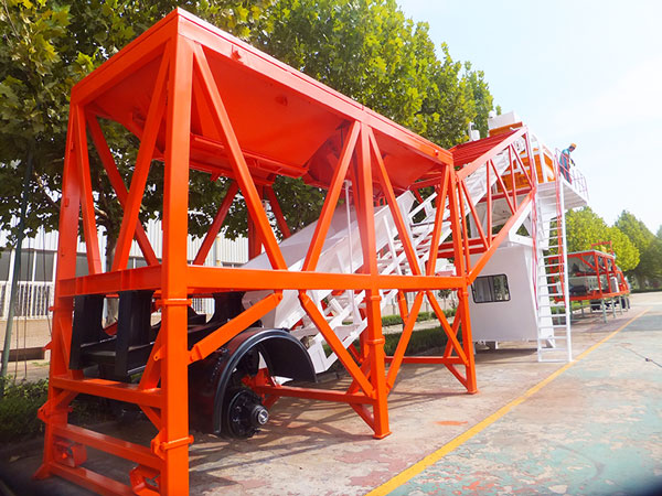 YHZS75 mobile concrete batching station