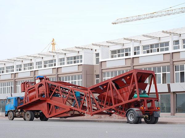 YHZS90 mobile concrete mixing plant
