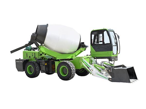 2.6 cub self loading concrete mixer truck