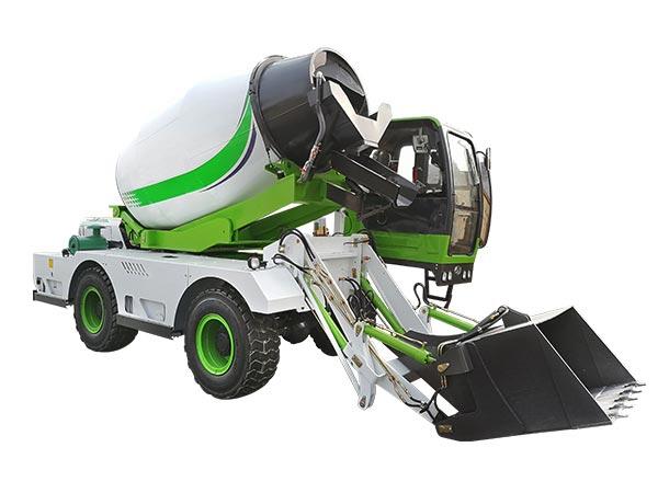 4.0 cub self loading concrete mixer truck