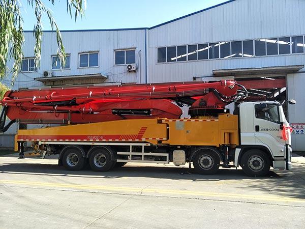 58m concrete boom pump