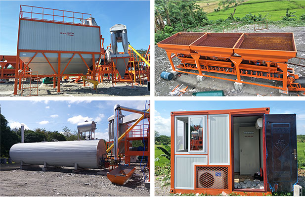 QLB60 Mobile Drum Asphalt Mixing Plant Installation In Philippines