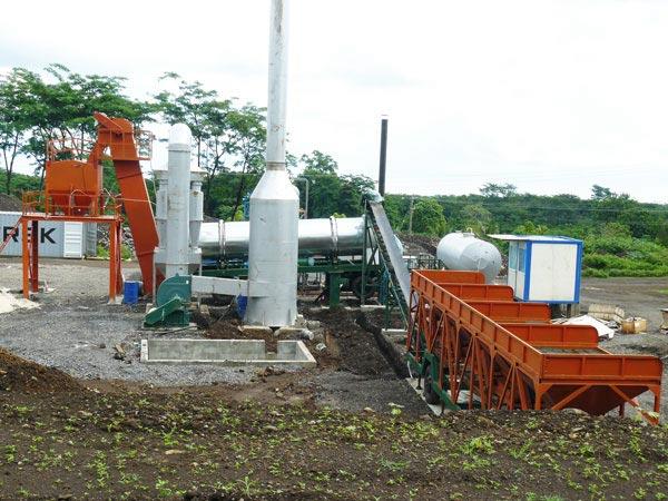 DHB60 continuous drum type asphalt plant