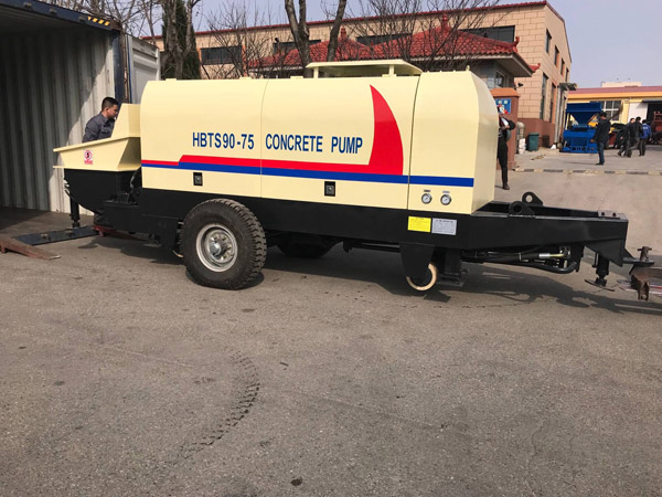 HBTS90 concrete trailer pump