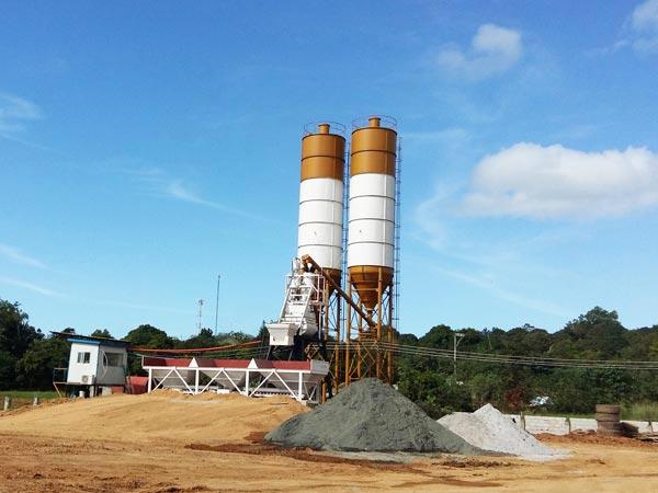 AJ-35 stationary concrete batch plant Malaysia