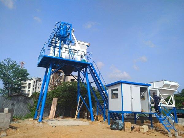 HZS50 skip hoist batching plant Malaysia