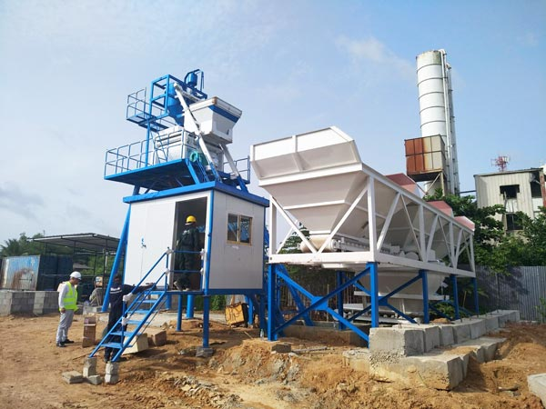 HZS50 stationary batching plant