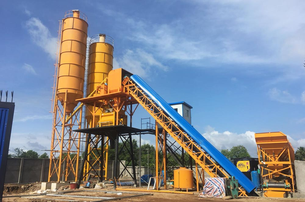 AJ-60 concrete plant installation