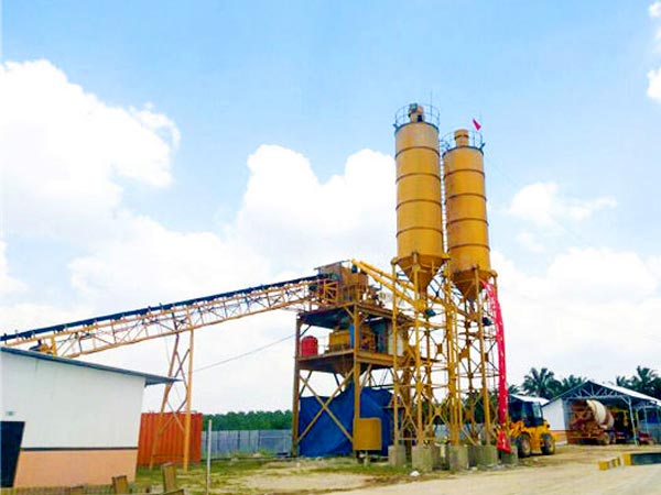 HZS90 stationary concrete plant